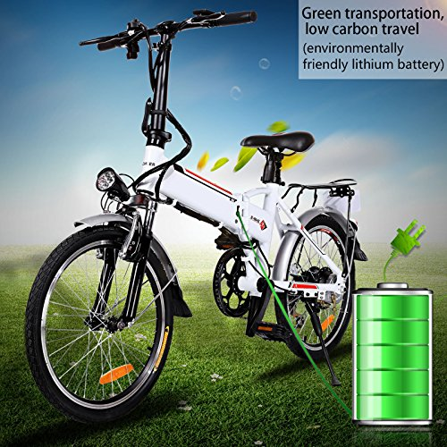 Foldable Electric City Bike with Removable 36V 8AH Lithium-Ion Battery, Lightweight Electric Urban Bike with 250W Powerful Motor for Man and Women
