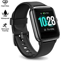HavenJanny Reloj Inteligente Smartwatch para Mujeres Hombres con Monitor de Frecuencia Cardíaca y Sueño,Reloj Actividad Deportivo Impermeable para iPhone con Contador de Calorías Escalonadas Podómetro