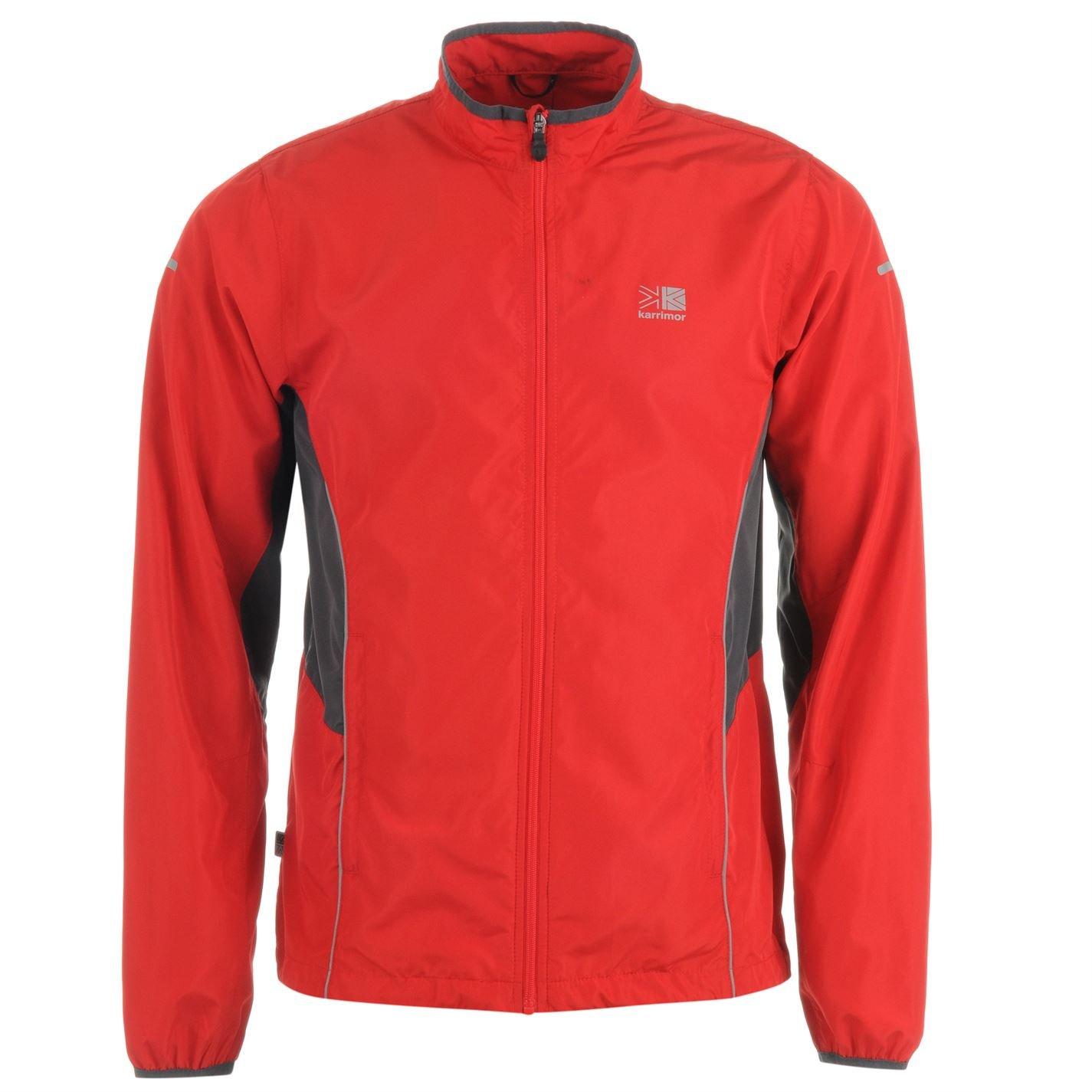 Karrimor Mens Running Jacket Jogging Long Sleeve Zip Fastening Coat Top Red Small