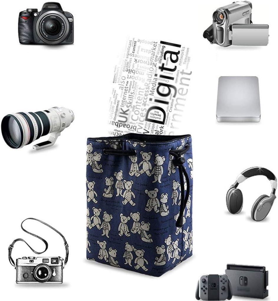 Digital Storage Bag Anti-Scratch Portable Travel Bundle Pocket Micro Single Bag SLR Camera Photography Bag Color : E, Size : 24CM
