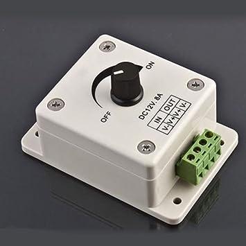 Tira de sensor PIR para regulador de intensidad de luz LED, 12 V, 8 A, para bombillas halógenas e incandescentes: Amazon.es: Bricolaje y herramientas