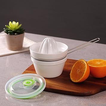 Exprimidor de cerámica, mano Squeeze máquina de zumo de limón naranja Exprimidor, bebé, copa de zumo: Amazon.es