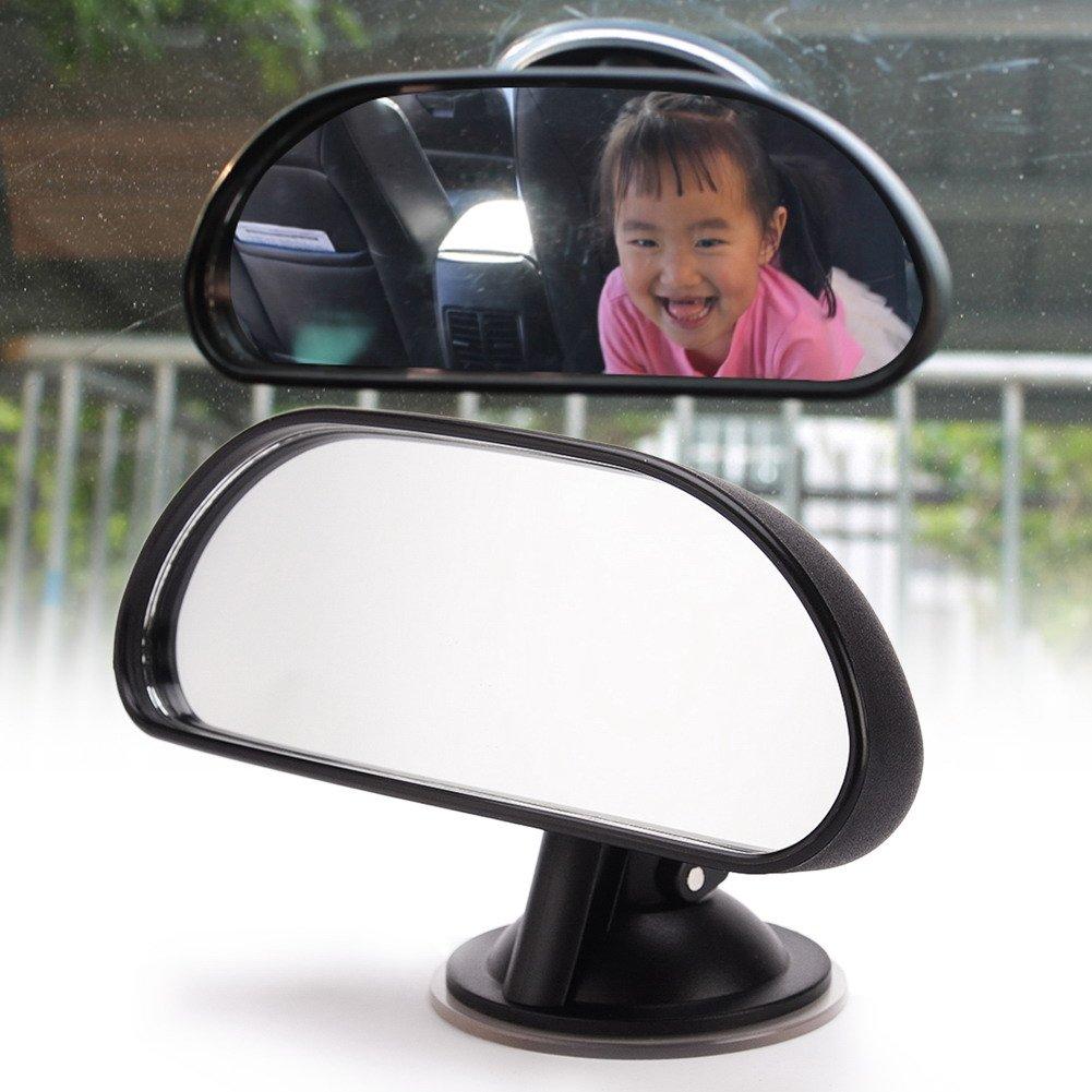 Muzoct universale auto bambino specchietto retrovisore bambino specchio con grandangolo 360//° 14,7/x 5,5/cm