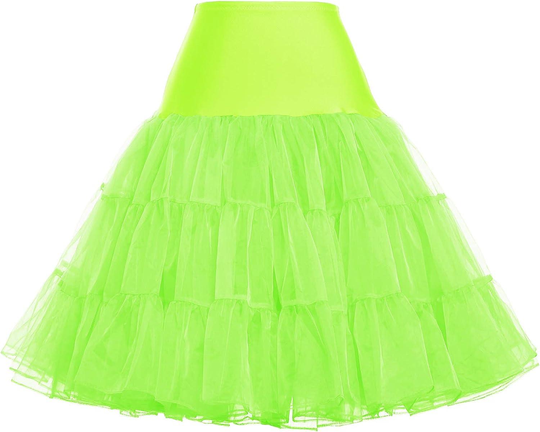50er Jahre Petticoat Vintage Retro Reifrock Petticoat Unterrock f/ür Wedding Bridal Petticoat Rockabilly Kleid in Mehreren Farben