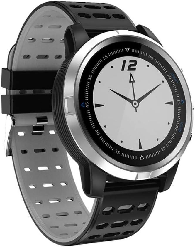 NFGGLM Inteligente Reloj Deportivo Escalada Fitness Equitación GPS Pista Multifunción Plata