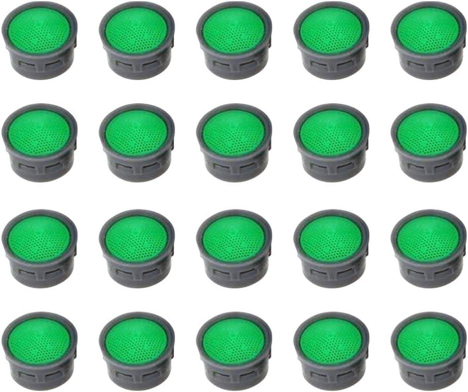 TOPBATHY 20 Pz 21Mm Ugelli Rubinetto Aeratore Gorgogliatori Spruzzatori Filtri per Il Risparmio Idrico Filtri Lucidati per Cucina Bagno Lavandino Rubinetto Parti di Ricambio