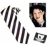 World Book Day Worst Witch Vinyl Strive Badge Sticker & 130cm Black & White Striped Tie
