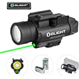OLIGHT Baldr Pro 1350 Lumens Tactical Weaponlight with Green Light and White LED, 260 Meters Beam Distance Compatible…