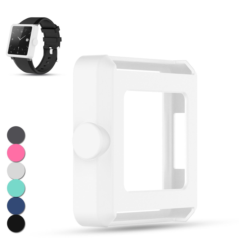 Feskio - Funda protectora de silicona para Sony SmartWatch 2 SW2, de repuesto para reloj inteligente Sony 2 SW2, a prueba de golpes y resistente a los ...