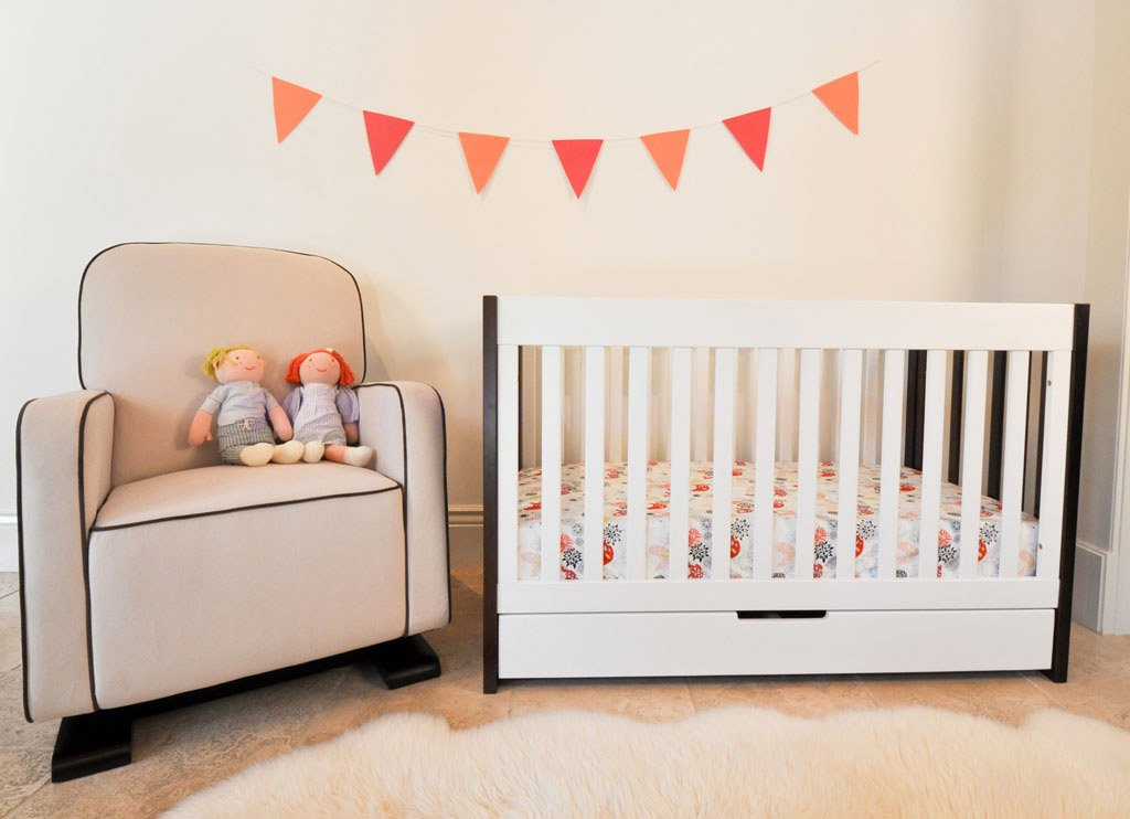 amazoncom babyletto mercer 3in1 convertible crib with toddler rail two tone baby