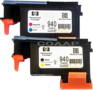 COAAP 2 PACK 940 Printhead Replacement for HP940 Print Head C4900A C4901A For HP Officejet Pro 8000 8500 8500A Plus 8500A Premium