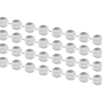 Yosoo 10m Rouleau à Perles Diy Rideau De Porte à Perles Moustiquaire Fils à Perles Panneau De Séparation Décoration Pour Porte D Entrée Porte
