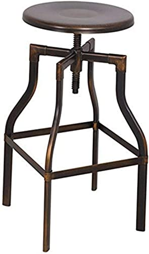 ACME Xena Antique Copper Stool with Swivel and Adjustable Height