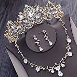 Best GENERIC Wedding Ring Sets - Quantity 1x Korean Bridal gold Crown Tiara Party Review