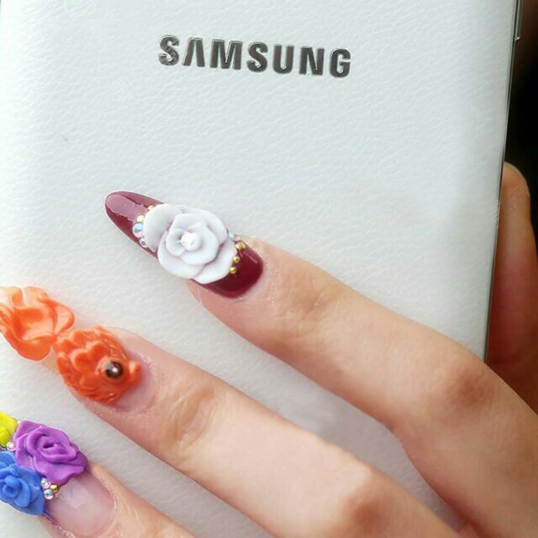 Amazon.com: BMC 10pc Fashionable NFC White Light Flash LED Nail ...