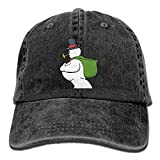 Moonmoon Unisex Snowman With Gift Bag Personal Group Athletic Cowboy Cap Peaked Baseball Cap