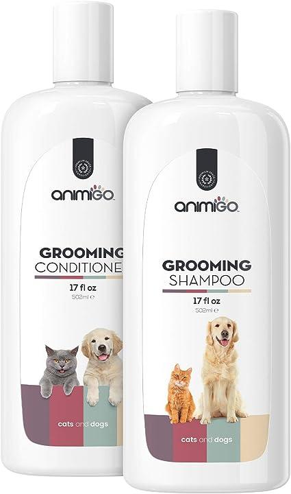 Animigo Champu y Acondicionador para Perros y Gatos con Piel Sensible | Hipoalergénico Hidratante con Aloe