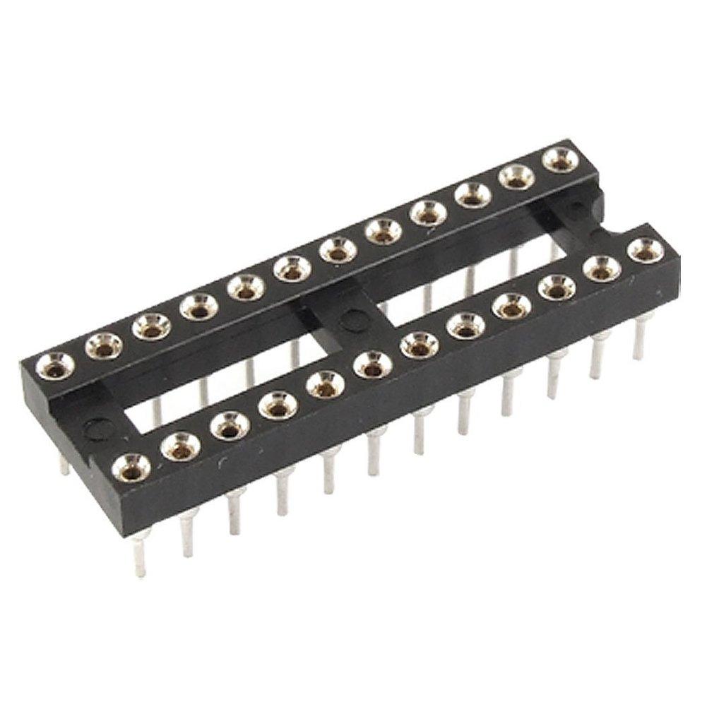 SODIAL(R) 20 Pcs 2.54mm Pitch 24 Pin DIP IC Adaptor Sockets Narrow