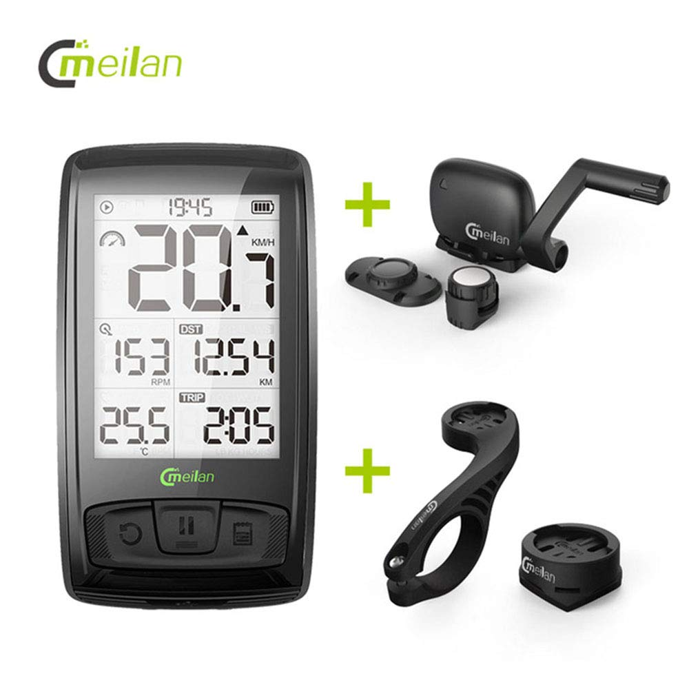 Meilan C2 M4 Cyclocomputers Holder Bicycle Light Bicycle Computer Compatible with Garmin Universal Handlebar Holder Extend Holders Stand Support Mount Brackets for Speedometer Odometer
