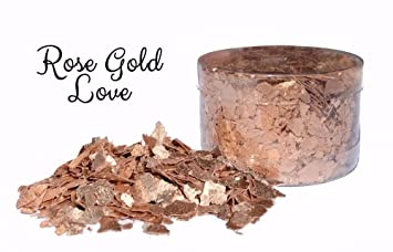 Edible Flakes - Rose Gold Love by Crystal Candy