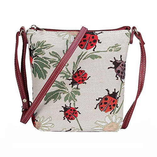 Satchel Sling Signare Body Cross Women New Ladybird Lightweight Tapestry Bag xfIw7q0