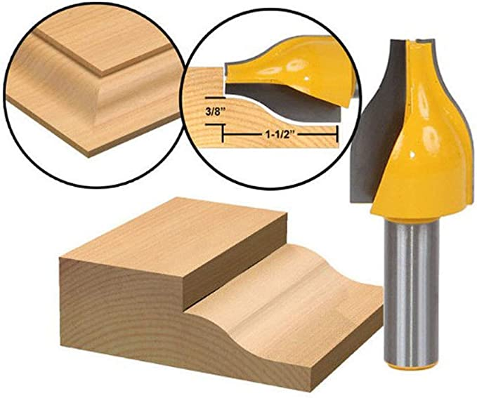 """1//2/"""" Shank Panel Vertical Ogee Raised Router Bit Woodworking Cutting Tool"""