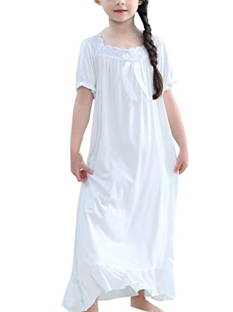 3efc68676df9f Amazon.com: BAIYIXIN Little Girls Summer Short Sleeve Princess ...