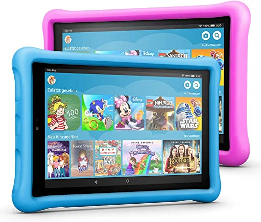 Fire Hd 10 Kids Edition Tablet Variety Pack 32 Gb Blau Pink Kindgerechte Hülle Amazon Devices