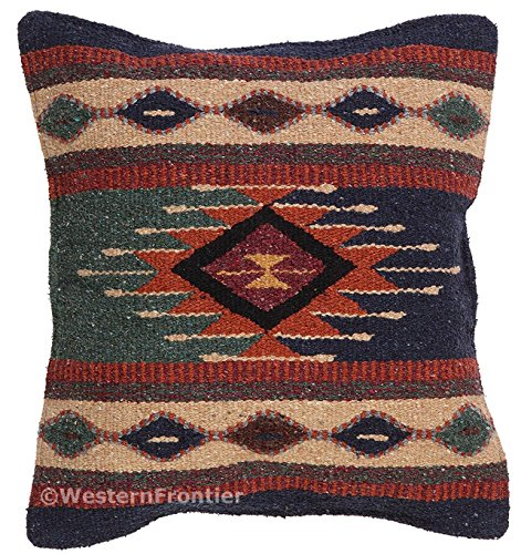 El Paso Designs Aztec Throw Pillow Covers, 18 X 18, Hand Woven in Southwest and Native American Styles. 7 (Mission Style Rug)