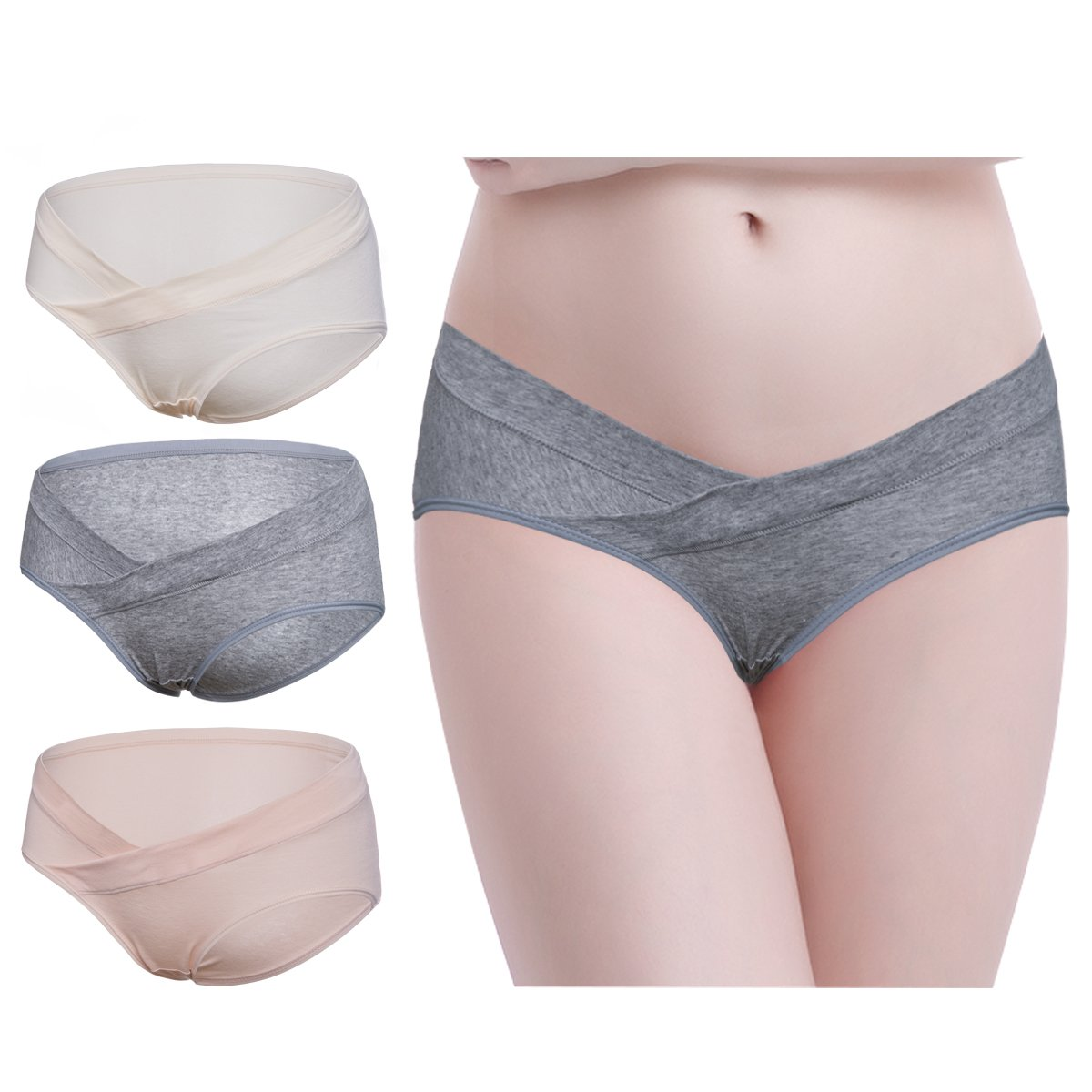 Under Bump Maternity Underpants Low Waist Belly Support Pregnancy Underwear 3PCS Mejor Only