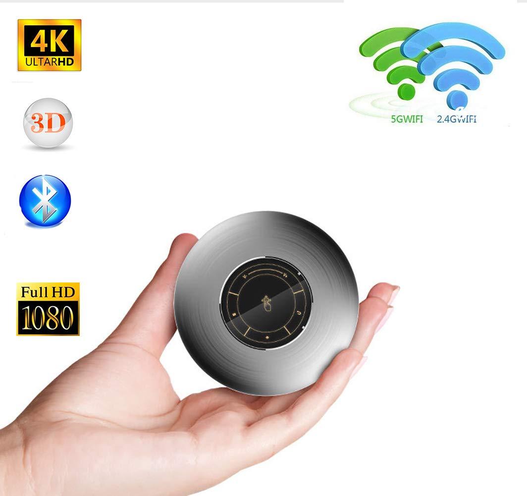 プロジェクターミニスモールホームワイヤレスデュアルバンド5G WiFi 1080P HDマルチタッチBluetooth内蔵HiFiスピーカーホームシアター B07QWSMRFW