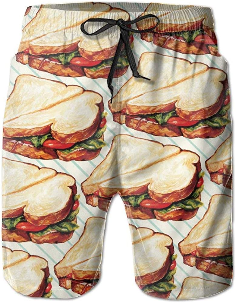 Holy Sandwich Swimsuit Trunks Short Printed Patterned Classical Jogging
