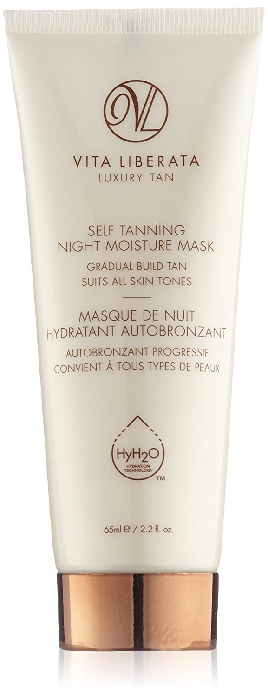 Organic Self Tan Lotion for Face - VITA LIBERATA Self Tanning Night Moisture Mask - Natural, Vegan Face Tan, Overnight Gradual Tan Lotion 65ml wr650