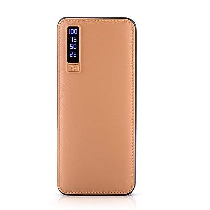 CHANNIKO-ES Mobile Power 20000 Mah Cargador de Cuero móvil ...