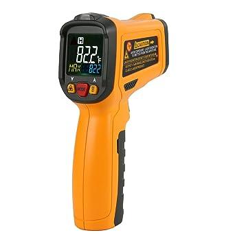 Termómetro Digital Infrarrojo Láser, Protmex Termómetro Infrarrojo Digital Láser IR Sin Contacto PM6530B Digital láser