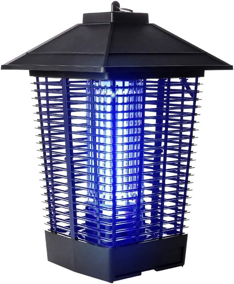 ZEMIN 蚊ランプ電撃殺虫灯 誘虫灯 屋外の 屋内 防水 ファーム 農業用 ごみ 傘の構造 (色 : ブラック, サイズ さいず : 24x40cm) ブラック 24x40cm