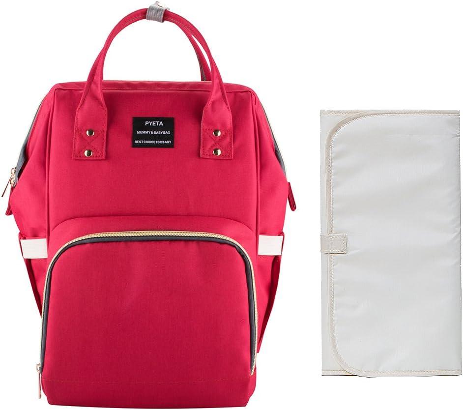 Bolsa para pañales tipo mochila, impermeable, multifunción, para el cuidado del bebé, de gran capacidad, elegante y duradera, perfecta para viajes, para el trabajo o para salidas con cambiador