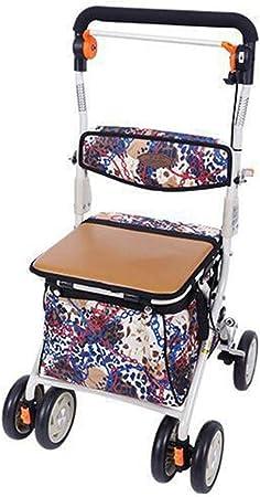 Amazon.com: SHIJIAN Foldable Shopping Trolley, Grocery Cart ...