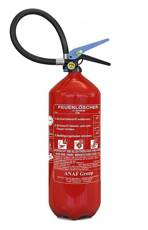 Extrem Feuerlöscher ABF 6 kg (6 l) mit Halterung und Manometer von ninux NO36