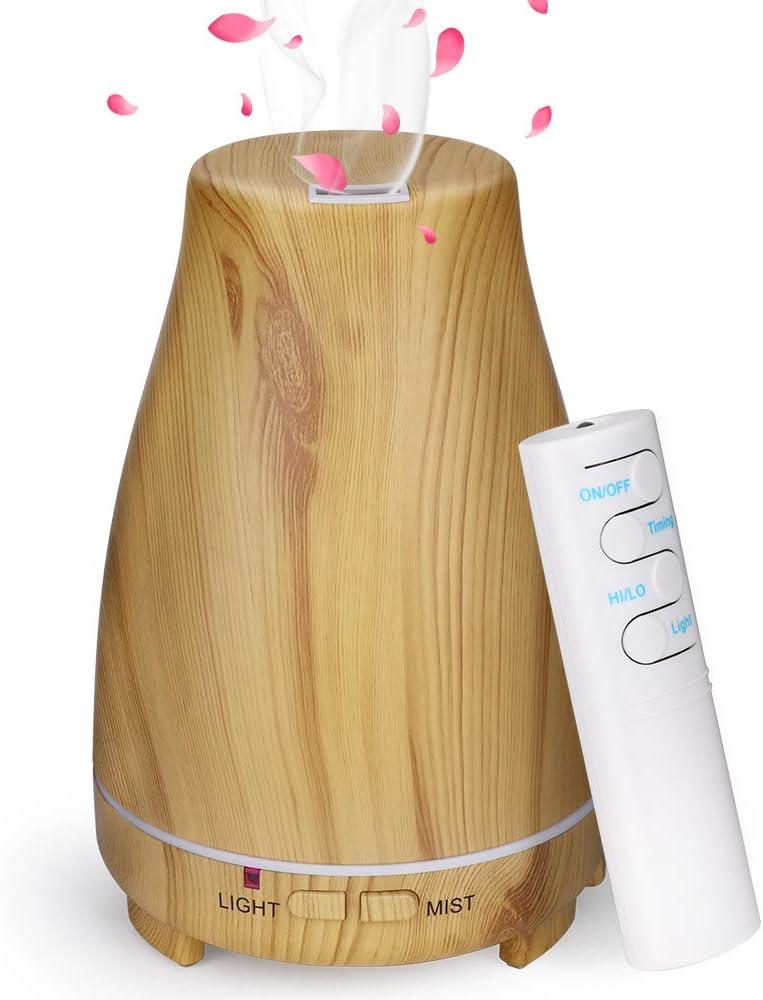 JUJ/® Humidificateurs Humidificateur dair Diffuseur dar/ôme /à ultrasons 150 ML 14W Diffuseur dhuile Essentielle daromath/érapie /à Diffusion de Parfum.