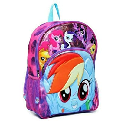 "My Little Pony 3D Molded 16"" Large Purple Backpack 