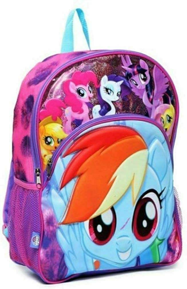 "My Little Pony 3D Molded 16"" Large Purple Backpack"