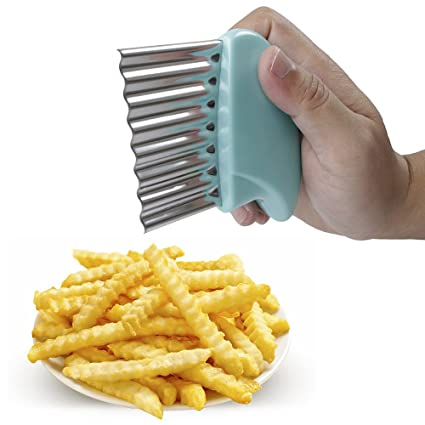 amazon com new hi crinkle cut knife stainless steel french fries
