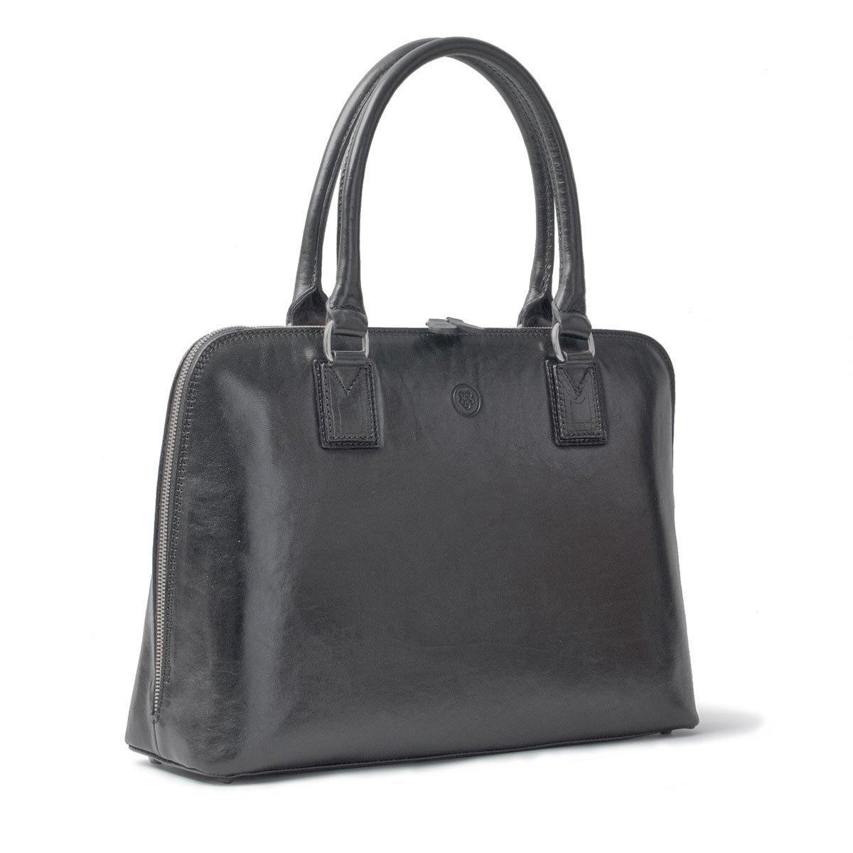 Maxwell Scott Luxury Ladies Black Leather Work Bag Purse for Macbook (Fiorella) by Maxwell Scott Bags (Image #3)