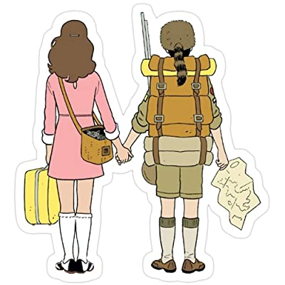 MrMint Moonrise Kingdom - Suzy & Sam Stickers (3 Pcs/Pack) 1372430664668: Kitchen & Dining