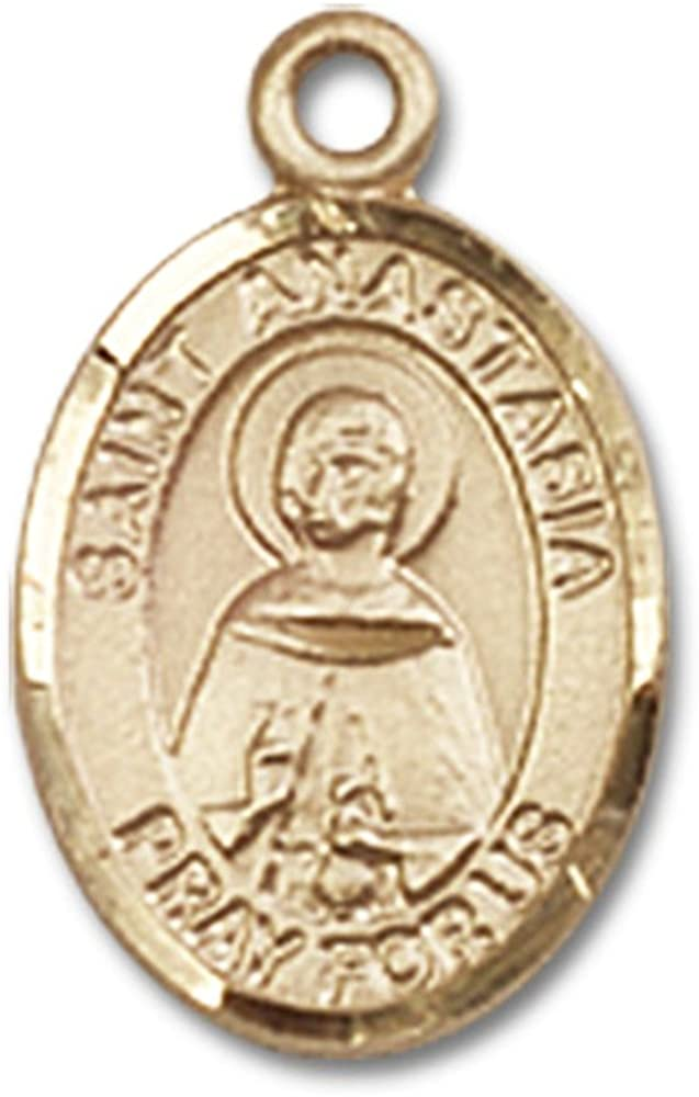 Bonyak Jewelry St Isaiah Hand-Crafted Oval Medal Pendant in 14kt Yellow Gold-Filled