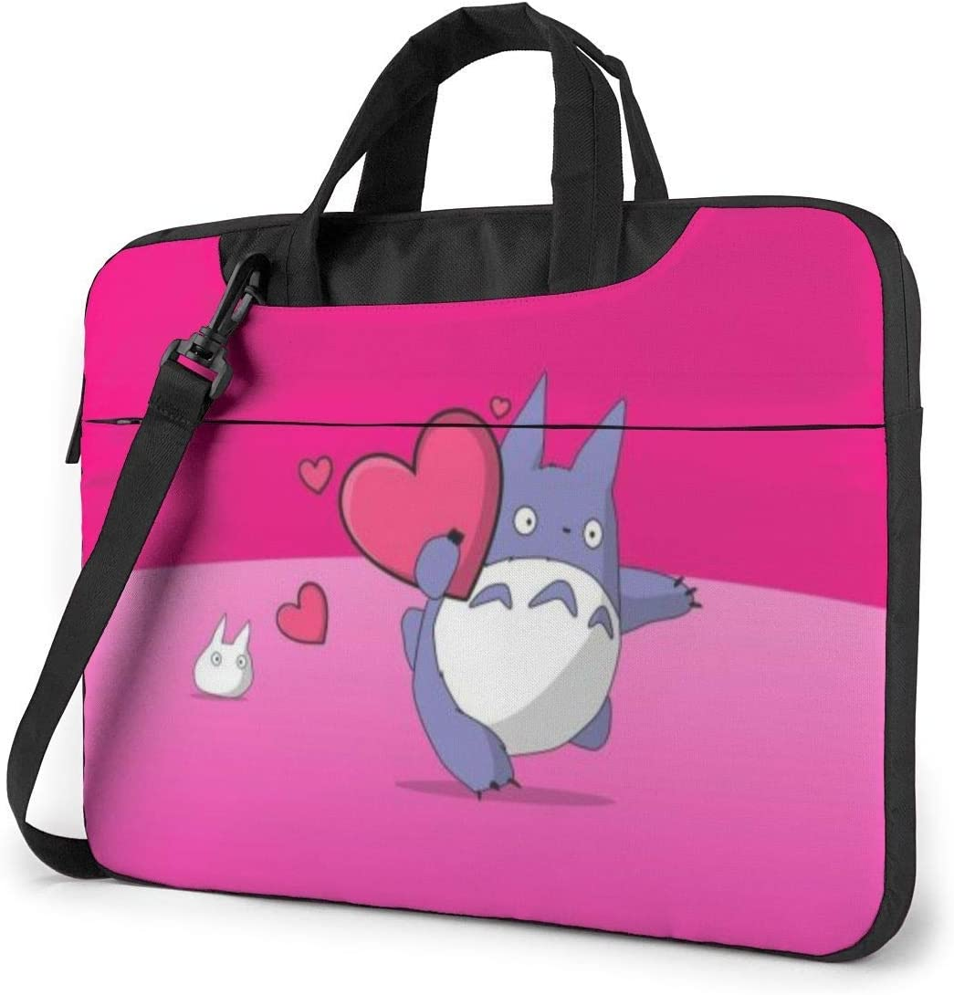 Cartoon Totoro Laptop Sleeve Bag Case 13 inch MacBook Air Pro Notebook Sleeve Case Portable Briefcase Tote Cases