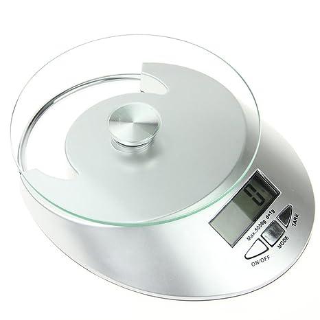 Digital Alimentos Escala báscula de cocina multifunción, 0.03oz (0.1g 5000 G (