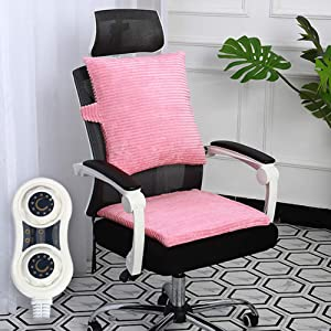 MAG.AL Office Heating Cushion Electro-Thermal Seat Cushion Warm Waist Pad Heat Backrest Multifunction Household Electric Heating Pad, C