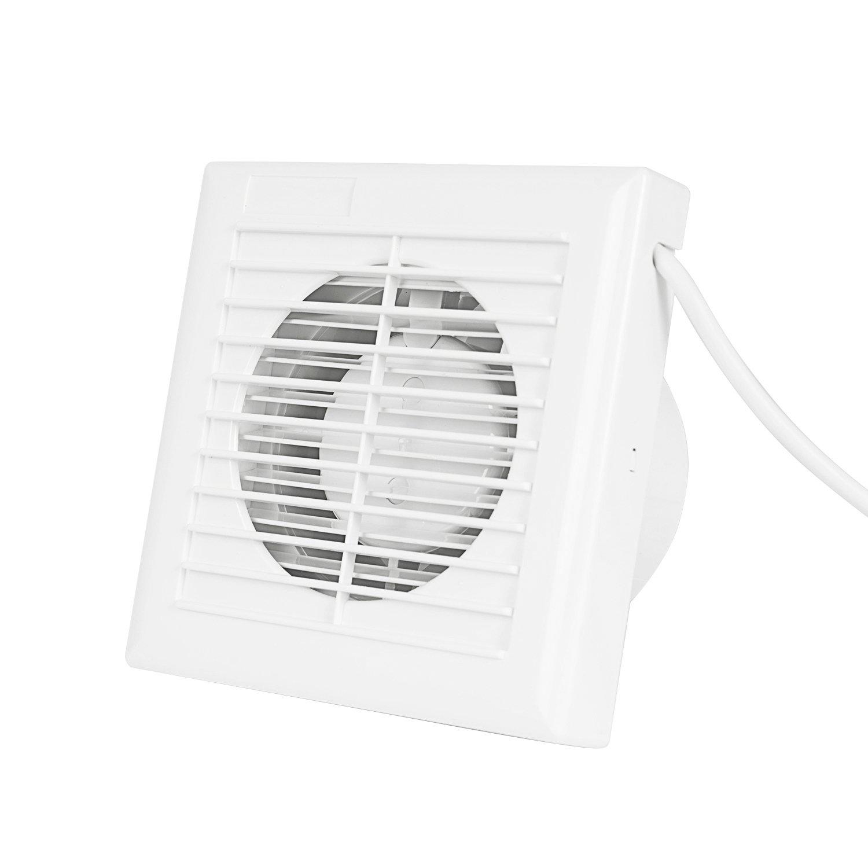"""Hon&Guan 4"""" Home Ventilation Fan Bathroom Garage Exhaust Fan Window and Wall Mount Fan for Kitchen Bathroom HVAC System"""